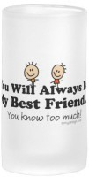 Boxmywish My Best Friend Frosted Beer Glass Mug (500 Ml)