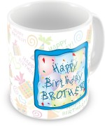 Everyday Gifts Plates & Tableware Everyday Gifts Happy Birthday Gift For Brother Ceramic Mug