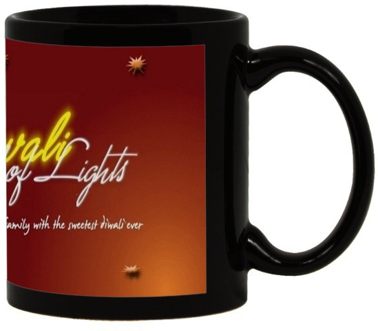 Lolprint 38 Diwali Gift Black Ceramic Mug
