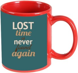Printland Printland Lost Time Red Coffee  350 - ml Ceramic Mug
