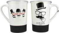 Anni Creations Vaccum Capped Sipper Ceramic Mug (600 Ml, Pack Of 2)
