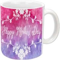 Jiyacreation1 With Cute Design Happy Mother's Day White Ceramic Mug (3.5 Ml)