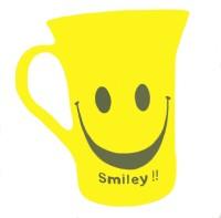 SHREE TARA Smiley Yellow Color Tea Cup Plastic Mug (510 Ml, Pack Of 6)