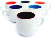 Jocular J1774 Ceramic Mug (180 Ml, Pack Of 6)
