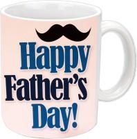 RajLaxmi Cool Design For Fathers Day White Ceramic Mug (350 Ml)