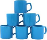 Aarzool Tea Cups Ceramic Mug (200 Ml, Pack Of 6)