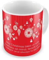 Little India Fancy Printed Design Red Coffee  588 Ceramic Mug (300 Ml)