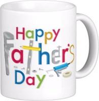 Exoctic Silver Father Dad Papa Baba Pitaji Abba X012 Ceramic Mug (300 Ml)