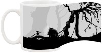 Harshita Enterprises Black And White Tree Ceramic Mug (300 Ml)