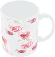 PosterGuy Pink Flowers Ceramic Mug (300 Ml)