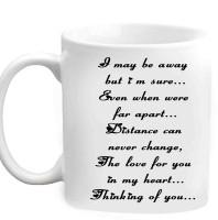 Jiyacreation1 Very Nice Love Quote Multicolor White Ceramic Mug (3.5 Ml)