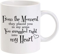 Lolprint You Snuggled Right In To My Heart Ceramic Mug (325 Ml)