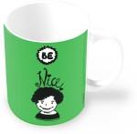 Thinkpot Plates & Tableware Thinkpot Be Nice Doodle Motivational Ceramic Mug