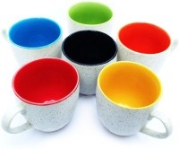 Somny RS White Ceramic Mug (100 Ml, Pack Of 6)