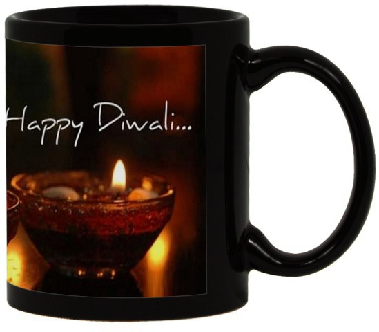 Lolprint 70 Diwali Gift Black Ceramic Mug