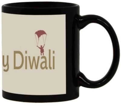 Lolprint 52 Diwali Gift Black Ceramic Mug