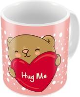 Home India Pink Designer Printed Cute Coffee S Pair 683 Ceramic Mug (300 Ml, Pack Of 2)