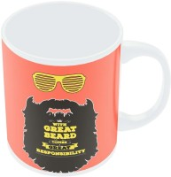 PosterGuy With Great Beard Comes Great Responsibility Quirky Illustration Ceramic Mug (280 Ml)
