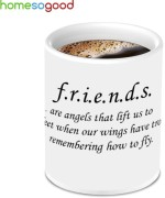 HomeSoGood Coffee Mugs HomeSoGood Unique Best Friend With Awesome Quotes To Fly Ceramic Mug