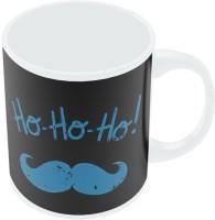 PosterGuy Ho-Ho-Ho Moustache (Blue) Quirky Ceramic Mug (280 Ml)