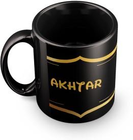 posterchacha Akhtar Name Tea And Coffee  For Gift And Self Use Ceramic Mug