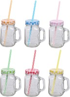 ZIDO Classic Mason Jar Glass Mug (450 Ml, Pack Of 6)