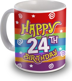 Sky Trends 24th Happy Birthday Gifts Ceramic Mug