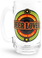 Happily Unmarried Lover Beer  Glass Mug (400 Ml)