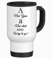 Tiedribbons A New Start And Way To Go Travel Stainless Steel Mug (350 Ml)