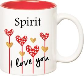 HuppmeGift I Love You Spirit Inner Red  (350 ml) Ceramic Mug