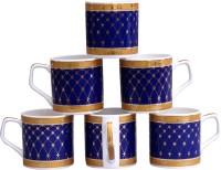 Pearl Classic-6 Cups Set Bone China Mug (180 Ml, Pack Of 6)