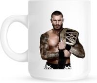 Huppme Gifts Randy Orton With Wwe Belt White  Ceramic Mug (350 Ml)
