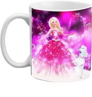 Jiyacreation1 Beautiful Barbie Character Multicolor White Ceramic Mug (3.5 Ml)
