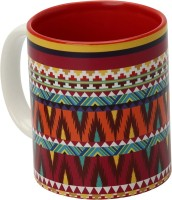 The Elephant Company Tribal Symmetry Coffee  Ceramic Mug (180 Ml)