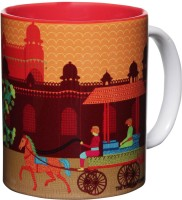 The Elephant Company Gond Art Village Ceramic Mug (300 Ml)