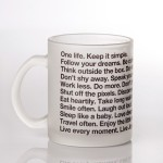 LetterNote Coffee Mugs LetterNote The LetterNote Manifesto Frosted Ceramic Mug