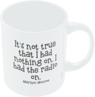 PosterGuy Marilyn Monroe With Inspirational Quote Ceramic Mug (300 Ml)