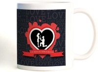 ShopMantra Love Typography Mug (White, Pack Of 1)