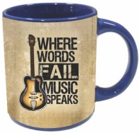 Printland Music Speaks PMBu0155 Ceramic Mug (350 Ml)