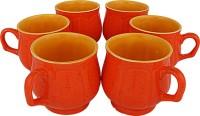 Tejvij And Sons Regular Tea Cups09 Ceramic Mug (125 Ml, Pack Of 6)