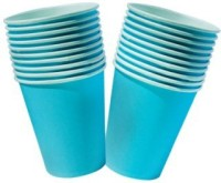 Smartcraft Plain Color Cup-Blue Paper Mug (100 Ml, Pack Of 10)