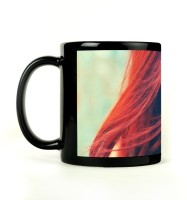 Shoprock Red Hair Lady Mug (Black, Pack Of 1)