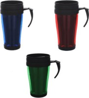 Goldendays Durable Plastic Cups With Cap Plastic Mug (150 Ml, Pack Of 3)
