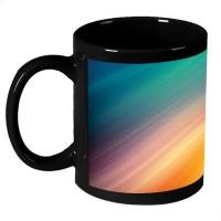 AMY Colorful Rays Abstract Art Coffee Ceramic Mug (325 Ml)
