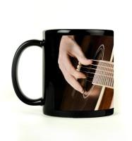 Shoprock Play Guitar Mug (Black, Pack Of 1)