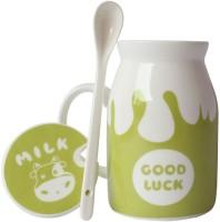 Grooto Cow Zoo Milk  Ceramic Mug (440 Ml)