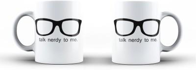Vibhar Plates & Tableware Vibhar TalkNerdy_s Ceramic Mug