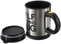 Dolphy Self Stirring Plastic, Stainless Steel Mug (350 Ml)
