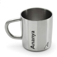 Hot Muggs Me Classic  - Ananya Stainless Steel Mug (200 Ml)