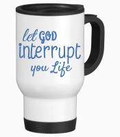 Tiedribbons Let God Interrupt Your Life Stainless Steel Mug (350 Ml)